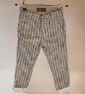 Pantalone multicolore con righe