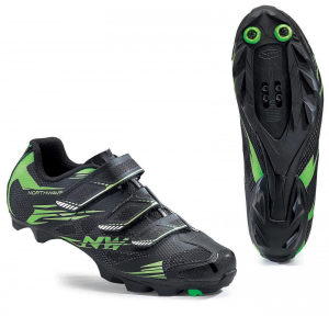 NORTHWAVE MTB Cycling Shoes SCORPIUS 2 Black/Fluo Green