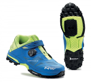 NORTHWAVE MTB AM Cycling Shoes ENDURO MID blue/fluo yellow