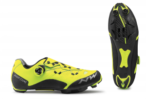 NORTHWAVE MTB Cycling Shoes Ghost XCM Yellow Fluo/Black