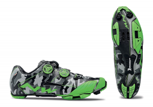 NORTHWAVE MTB Cycling Shoes EXTREME XC reflective camo/green fluo