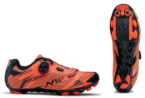 NORTHWAVE MTB Cycling Shoes SCORPIUS 2 PLUS lobster orange/black