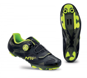 NORTHWAVE MTB Cycling Shoes SCORPIUS 2 PLUS black military/yellow fluo