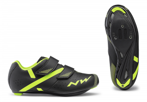 NORTHWAVE Junior Road Cycling Shoes Torpedo 2 JR  Black/Yellow Fluo