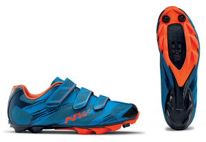 NORTHWAVE MTB Cycling Shoes SCORPIUS 2 blue/lobster orange