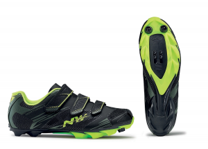 NORTHWAVE MTB Cycling Shoes SCORPIUS 2 black/military/yellow fluo