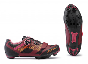 NORTHWAVE Womens MTB Cycling Shoes Razer WMN Dark Red/Black