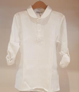 Camicia bianca a a maniche lunghe