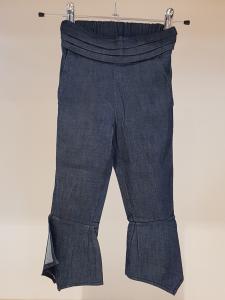 Pantalone blu con fondo ampio, S-L