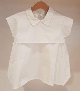 Blusa bianca a maniche corte, S-L