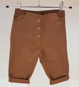 Pantalone marrone con bottoni