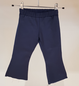 Pantalone blu scuro a trombetta