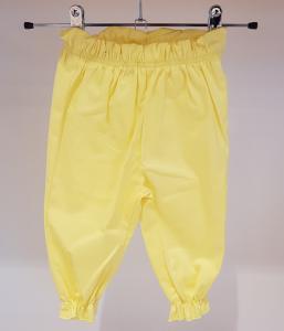 Pantalone giallo con vita e fondo elasticizzati