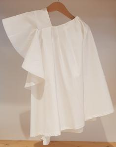 Vestito bianco monospalla