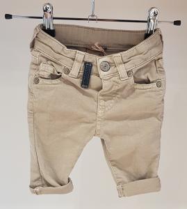 Jeans beige con passante nero