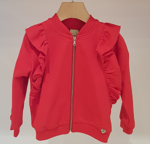 Cardigan rosso con rouge
