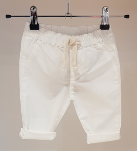 Pantalone bianco con laccio latte