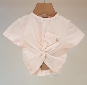 T-Shirt rosa con taschino