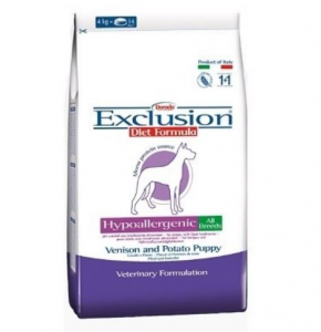 Exclusion Diet Hypoallergenic Puppy Cervo e Patate All Breed Cane 800gr