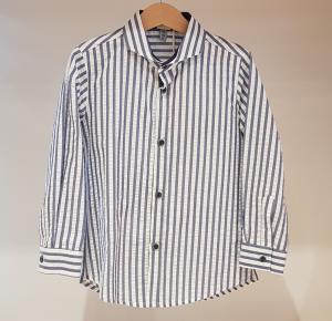 Camicia a righe bianche e blu