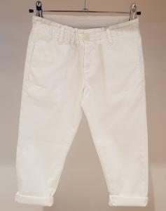 Pantalone bianco con vita elasticizzata