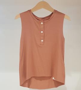 T-Shirt rosa cipria smanicata