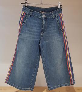Jeans con bande multicolore