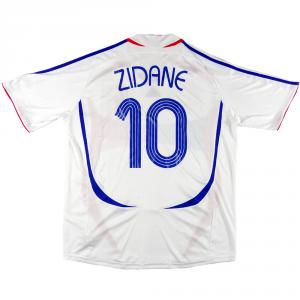 2006-07 Francia Maglia Away #10 Zidane XL (Top)