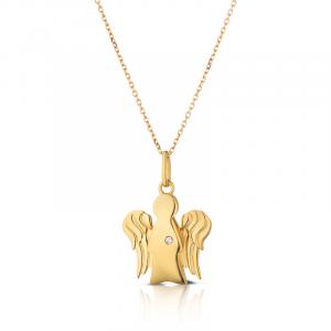 Collana Roberto Giannotti con pendente Angelo in oro giallo e diamante