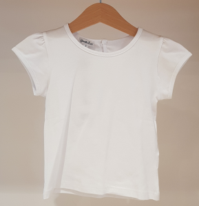 T-Shirt bianca a maniche corte ampie
