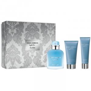Dolce & Gabbana Light Blue Intense Homme Eau De Parfum Spray 100ml Set 3 Parti 2019