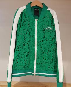 Felpa verde con bande bianche