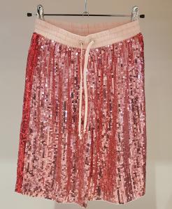 Pantalone rosa con paillettes
