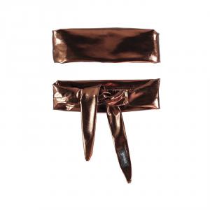 Fascia per capelli bronzo lucida