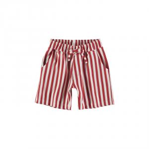 Pantaloncino a righe bianche e rosse