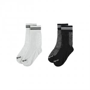 Pacco da 2 paia di calze bianche e nere