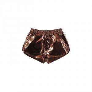 Pantaloncino bronzo lucido