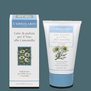 Latte di Pulizia Viso alla camomilla per pelli delicate L' Erbolario 125 ml