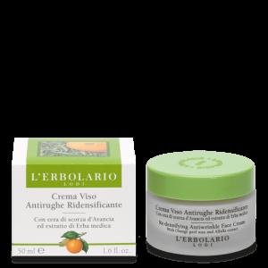 Crema Viso Antirughe Ridensificante con Cera di scorza d'Arancia ed Estratto di Erba Medica 50 ml