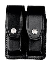 Porta caricatore in cuoio bifilare (2 posti)