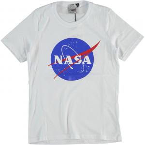 T-Shirt bianca con stampa logo