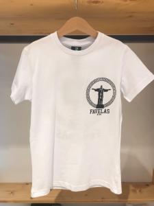 T-Shirt bianca con stampe logo nero
