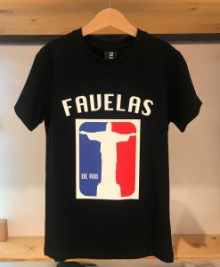 T-Shirt nera con stampa logo grande