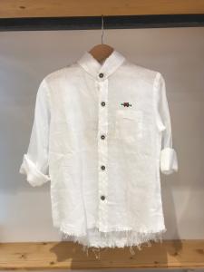 Camicia bianca con ricamo logo