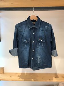Camicia di jeans con ricamo logo