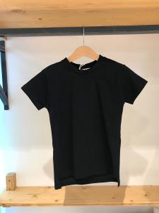 T-Shirt nera con stampa logo dietro
