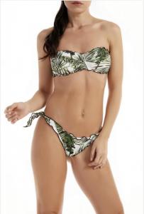 Bikini a fascia e slip nodi frou-frou Papunya Effek
