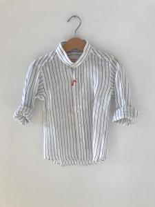Camicia bianca con righe blu