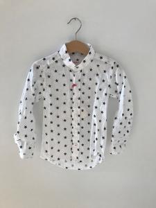 Camicia bianca con stampa stelle blu scure