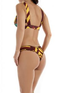 Bikini triangolo bordato e slip americano Papunya Effek